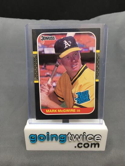 1987 Donruss Baseball #46 MARK MCGWIRE Athletics Rated Rookie Trading Card from Massive Collection