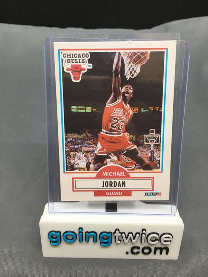 1990-91 Fleer Basketball #26 MICHAEL JORDAN Bulls Trading Card from Massive Collection