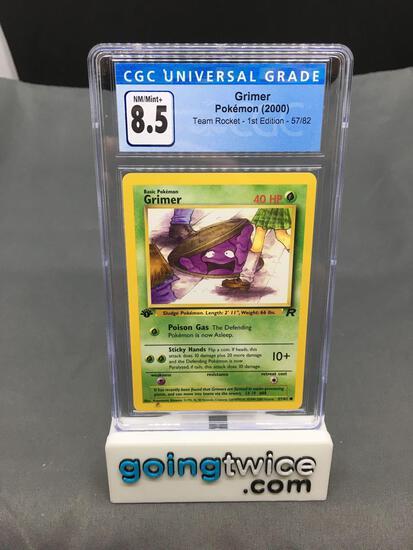 CGC Graded 2000 Pokemon Team Rocket 1st Edition #57 GRIMER Trading Card - NM-MT+ 8.5