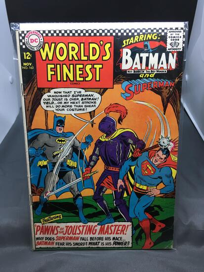 DC Comics WORLD'S FINEST #162 Vintage Silver Age Comic Book from Estate Collection