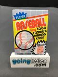 Factory Sealed 1989 FLEER Baseball 15 Card Pack - Bill Ripken FF Error?