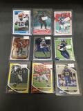 9 Card Lot of FOOTBALL ROOKIE CARDS - Mostly Newer Sets - From Huge Collection