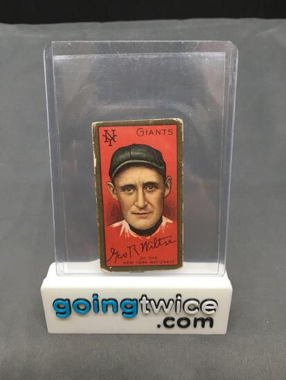 1911 T205 GEORGE R WILTSE Vintage Hassan Back Trading Card - BOTH EARS SHOW