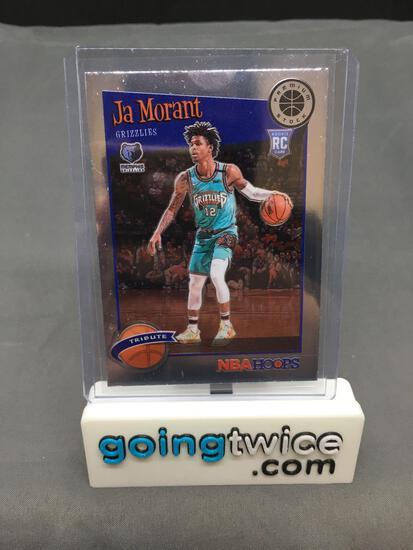 2019-20 NBA Hoops Premium Stock Basketball #297 JA MORANT Grizzlies Rookie Trading Card
