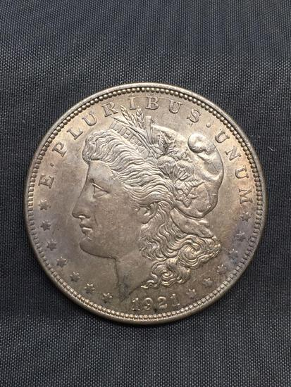 1921 United States Morgan Silver Dollar - 90% Silver Coin from Estate