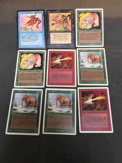 9 Card Lot of Vintage Magic the Gathering Cards from Enormous Collection