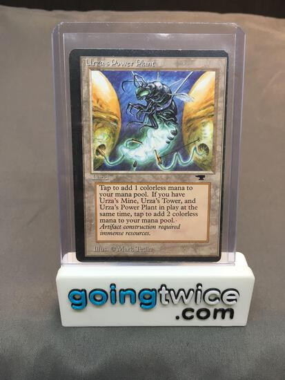 Vintage Magic the Gathering Antiquities URZA'S POWER PLANT (Bug) Trading Card - HEAVILY OFF CENTER -