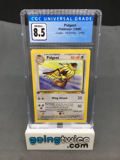 CGC Graded 1999 Pokemon Jungle 1st Edition #24 PIDGEOT Trading Card - NM-MT+ 8.5
