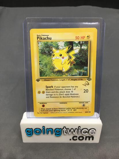 Pokemon Jungle 1st Edition Wizards Gold Stamp #60 PIKACHU Vintage Trading Card