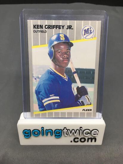1989 Fleer #548 KEN GRIFFEY JR. Mariners ROOKIE Baseball Card