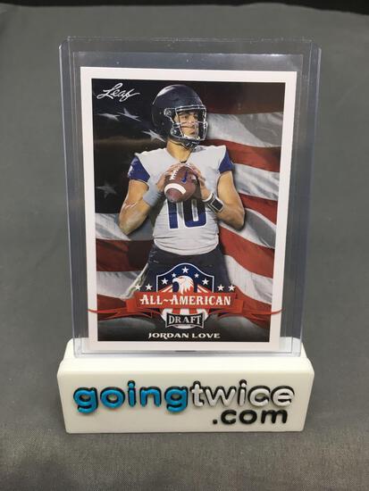 2020 Leaf Draft All-American #71 JORDAN LOVE Packers ROOKIE Football Card