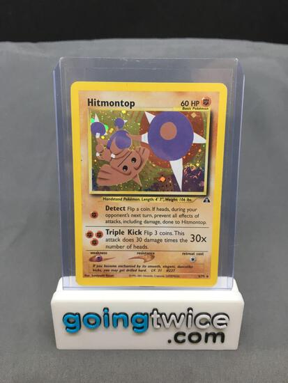 2001 Pokemon Neo Discovery #3 HITMONTOP Holofoil Rare Trading Card from Consignor - Binder Set