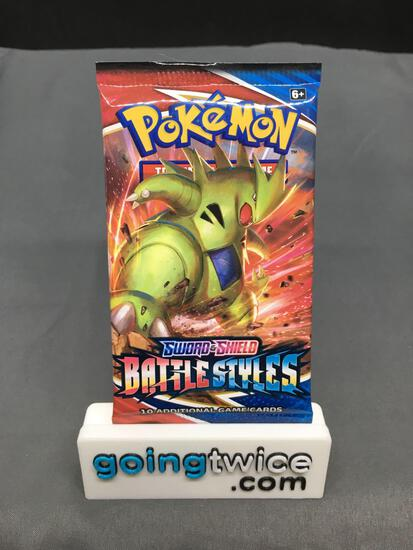 Factory Sealed Pokemon BATTLE STYLES 10 Card Booster Pack - URSHIFU VMAX?
