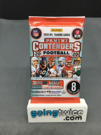 Factory Sealed 2020 Panini CONTENDERS Football 8 Card Pack