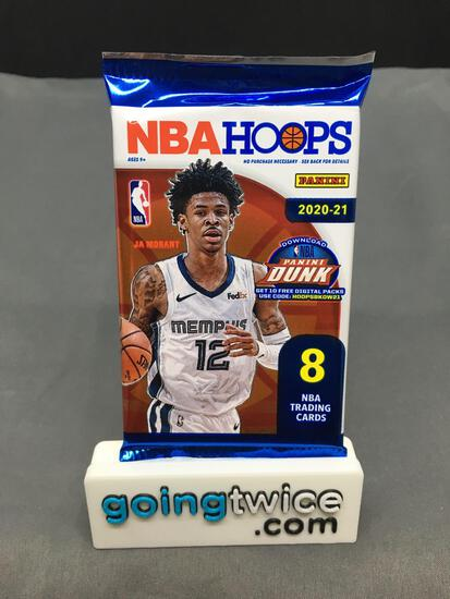 Factory Sealed 2020-21 NBA HOOPS Basketball 8 Card Pack - LaMelo Ball RC?