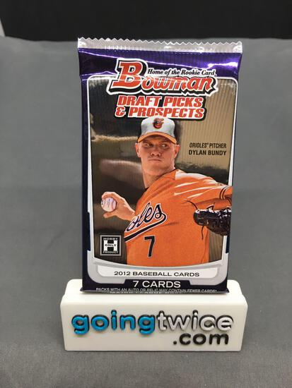 Factory Sealed 2012 BOWMAN Draft Picks & Prospects Baseball Hobby Edition 7 Card Pack