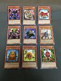 9 Card Lot of Gold Symbol 1st Edition YUGIOH Card - Mostly Older Sets - From Huge Collection Find!