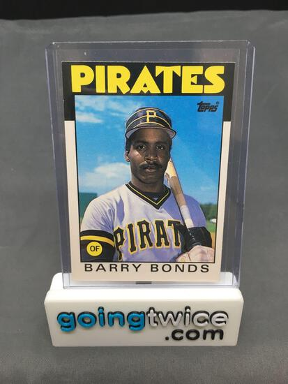 1986 Topps Traded Baseball #11T BARRY BONDS Pirates Rookie Trading Card