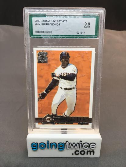 AGS Graded 2000 Paramount Update BARRY BONDS Giants Baseball Card - MINT 9