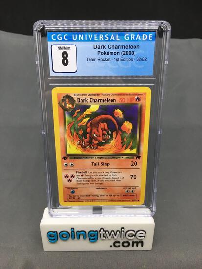 CGC Graded 2000 Pokemon Team Rocket 1st Edition #32 DARK CHARMELEON Trading Card - NM-MT 8
