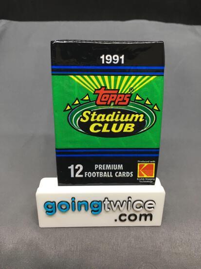 Factory Sealed 1991 Topps STADIUM CLUB Football 12 Card Hobby Pack - BRETT FAVRE ROOKIE?