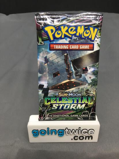 Factory Sealed Pokemon Sun & Moon CELESTIAL STORM 10 Card Booster Pack