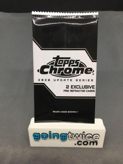 Factory Sealed 2020 Topps CHROME Update Baseball 2 Card Pink Refractor Pack