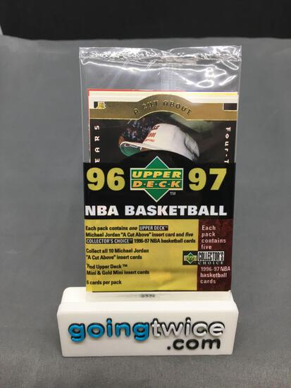 """Factory Sealed 1996-97 Collector's Choice Basketball 6 Card Pack - Michael Jordan """"A Cut Above"""""""