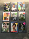 9 Card Lot of BASEBALL Rookie Cards with Modern Stars, Hall of Famers and More!