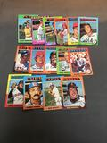 15 Card Lot of 1975 Topps Mini Vintage Baseball Cards from Nice Collection