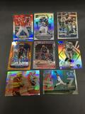 9 Card Lot of REFRACTOR and PRIZM Sports Cards with Rookies, Stars and More!