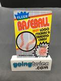 Factory Sealed 1989 FLEER Baseball 15 Card Pack & 1 Sticker - Bill Ripken FF Error?