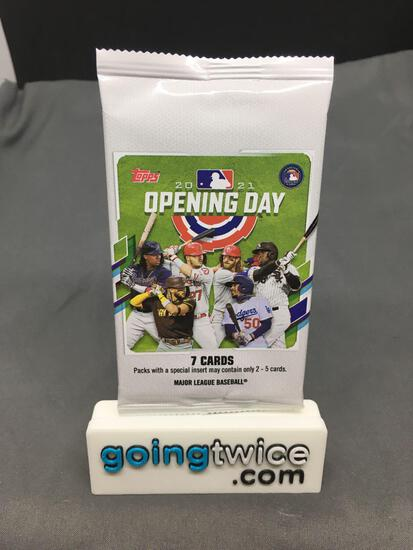 Factory Sealed 2021 TOPPS OPENING DAY Hobby Edition 7 Card Pack
