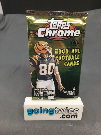 Factory Sealed 2000 TOPPS CHROME Football 4 Card Pack