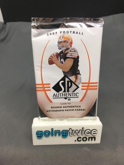 Factory Sealed 2007 SPA NFL Football 5 Card Pack