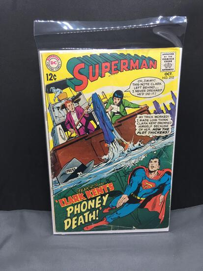 1968 DC Comics SUPERMAN Vol 1 #210 Silver Age Comic from Consignor Collection