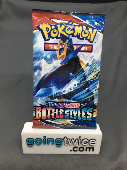 Factory Sealed Pokemon Sword & Shield BATTLE STYLES 10 Card Booster Pack