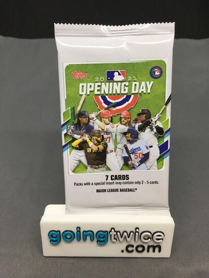 Factory Sealed 2021 Topps OPENING DAY Baseball Hobby Edition 7 Card Pack