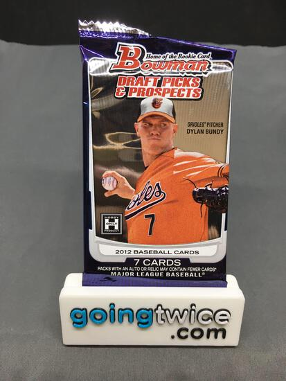 Factory Sealed 2012 Bowman Draft Picks & Prospects 7 Card Hobby Edition Pack