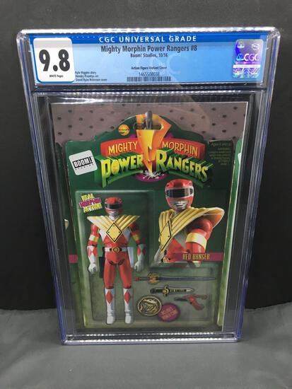 CGC Graded Mighty Morphin Power Rangers #8 Comic Book - Action Figure Variant Cover - 9.8