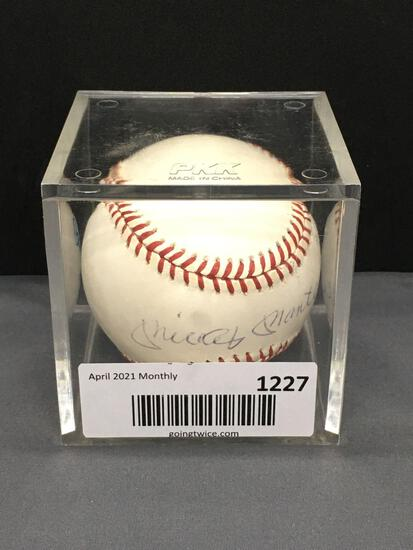 JSA Certified Signed MICKEY MANTLE Yankees Autographed American League Baseball