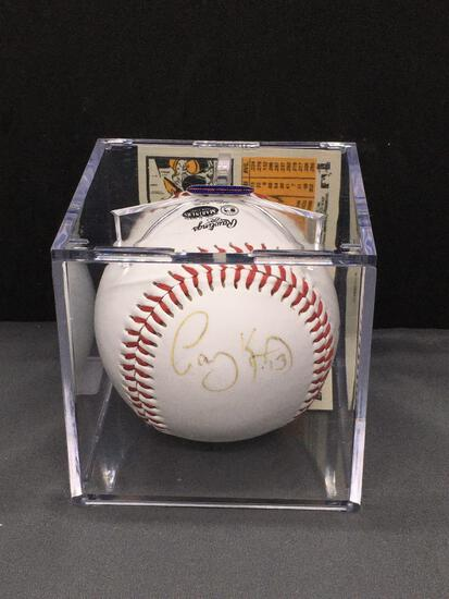 Signed CASEY KOTCHMAN Mariners Autographed Team Logo Baseball
