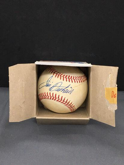 Signed JIM DESHAIES Astros Autographed National League Baseball