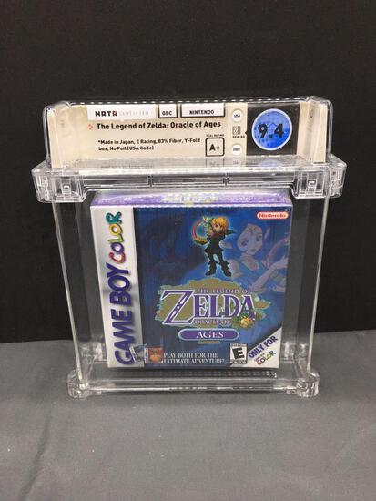 WATA Graded Factory Sealed LEGEND OF ZELDA ORACLE OF AGES Gameboy Color Video Game - 9.4 - Seal