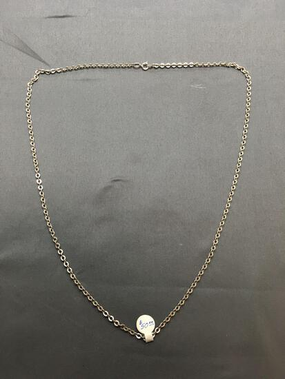 Cable Link 3mm Wide 22in Long Sterling Silver Chain