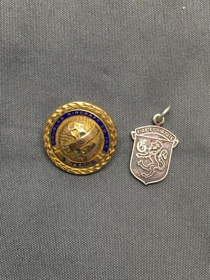 Lot of Two Sterling Silver Commemorative Charms