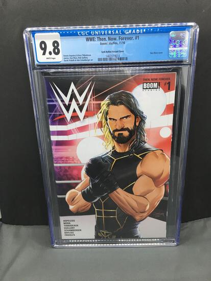 CGC Graded WWE: Then. Now. Forever. #1 Comic Book - Seth Rollins Variant - 9.8