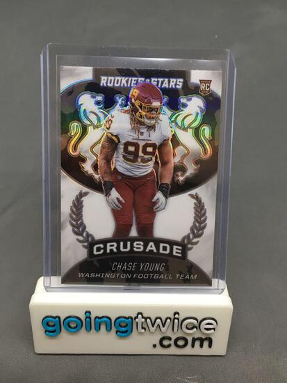 2020 Panini Rookies & Stars Crusade Silver Prizm CHASE YOUNG Redskins ROOKIE Football Card