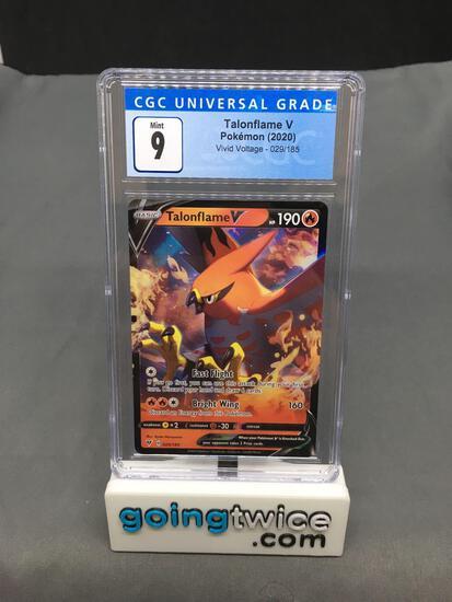 CGC Graded 2020 Pokemon Vivid Voltage #29 TALONFLAME V Holofoil Rare Trading Card - MINT 9
