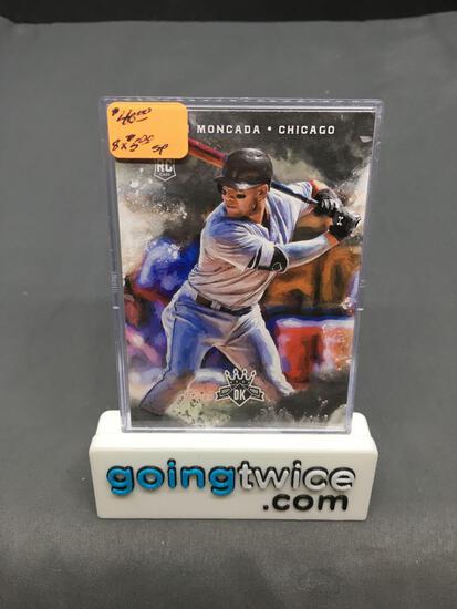 8 Card Lot of 2017 Panini Diamond Kings YOAN MONCADA White Sox ROOKIE Baseball Cards - Grading?